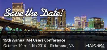 Save the Date for the 2016 M4 User Conference