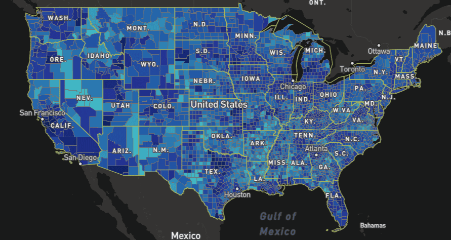 FCC's US Broadband Coverage Map